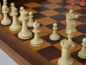 REF1778 Fine bone Staunton chess set, box & board.